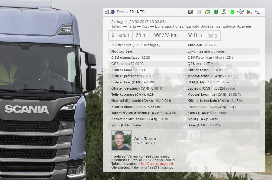 baf207a057f CAN BUS on infokanal, kus liiguvad Teie masina andmed nagu kütusetase,  kütusekulu, mootori info, läbisõit, telje koormus jpm.